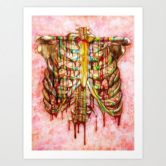 Dripping Bone Art Print