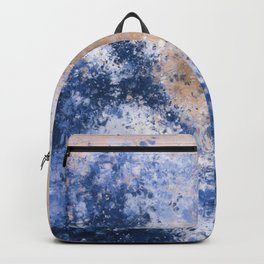 The Great Wave Inspired Abstract Painting Backpack