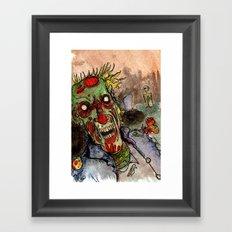 zombie grave rising Framed Art Print