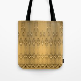 Golden Pattern Golden Luxury Week Tuesday Tote Bag