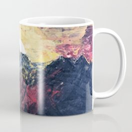 Arapahoe National Forest [2]: a colorful abstract mixed media mountain range Coffee Mug