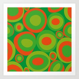 Bubbleroom in red and green Art Print