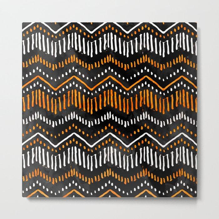 Handpainted Boho, Fall Metal Print