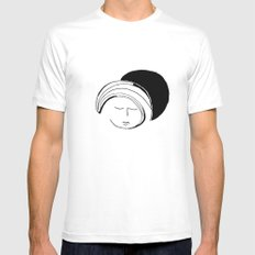 Moon Mode MEDIUM White Mens Fitted Tee