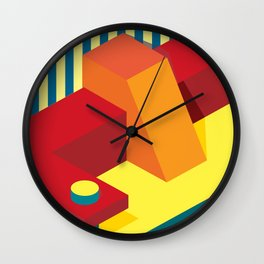 Shadow Shapes 13 Wall Clock