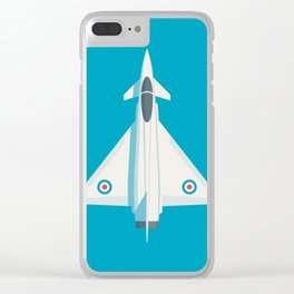 Typhoon Jet Fighter Aircraft - Cyan Clear iPhone Case
