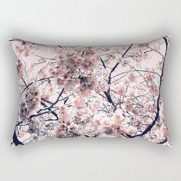 Pink Spring Flowers Rectangular Pillow