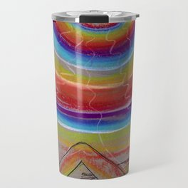Rainbow Moon Vibrations Travel Mug