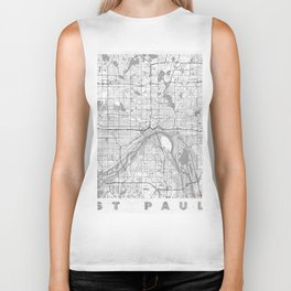 St Paul Map Line Biker Tank