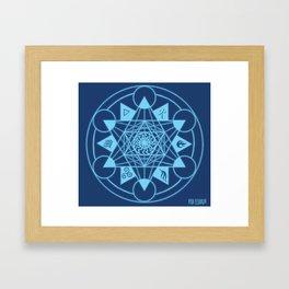 Fire Seal Framed Art Print