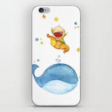 Baby whale iPhone & iPod Skin