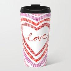 Love Hearts Metal Travel Mug