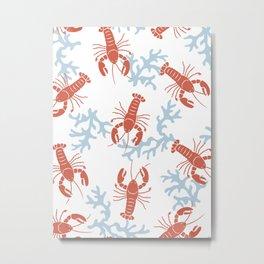 Lobster Toss Metal Print