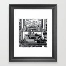 OLD READING Framed Art Print