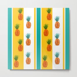 Pineapple Pattern 2 Metal Print