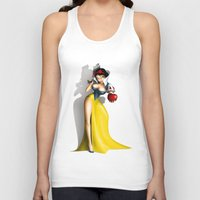 snow white Tank Tops featuring Snow White by Greg-guillemin