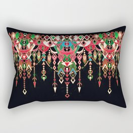Modern Deco in Red and Black Rectangular Pillow