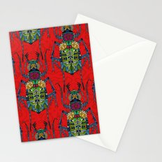 flower beetle red Stationery Cards