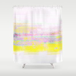 sunrise in yellow and pink Shower Curtain