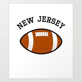 New Jersey American Football Design black lettering Art Print