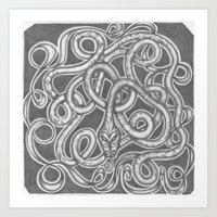 Art Print featuring Snake Knot by C. Dunning
