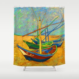 Fishing Boats by VVG Shower Curtain