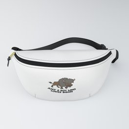 Just a Boy Who Loves Bison Fanny Pack