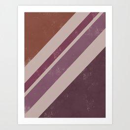 Berry Stripes Art Print