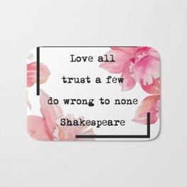 Quotes Shakespeare Bath Mat