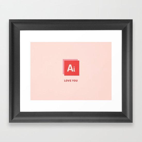 Ai Love You Framed Art Print