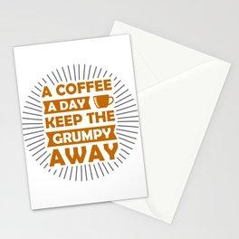 Coffee Keeps Grumpy Away Stationery Cards