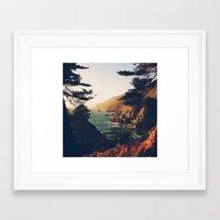 big sur Framed Art Prints featuring Big Sur by Christian Sorensen Hansen
