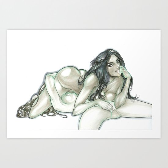 2 girls no cup Art Print