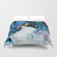 pacific rim Duvet Covers featuring Pacific Rim: Gipsy Danger by Bolin Cradley Art