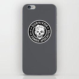 Survivor of the Zombie Apocalypse iPhone Skin