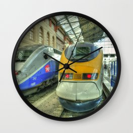 Marseille Trains of Grande Vitesse Wall Clock
