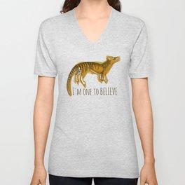 I´m one to believe ( thylacine ) Unisex V-Neck