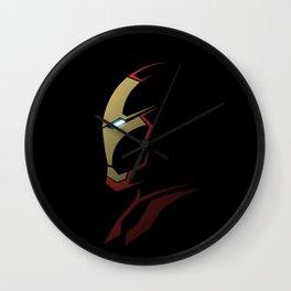 Iron man portrait Wall Clock