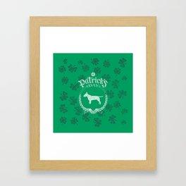 St. Patrick's Day Bull Terrier Funny Gifts for Dog Lovers Framed Art Print