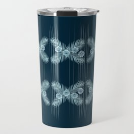 Areca Palm Zinnia Border Print Travel Mug