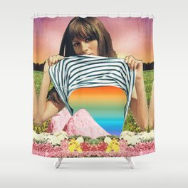Internal Rainbow II Shower Curtain