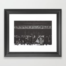 City Lights Dancing Framed Art Print