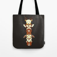 totem Tote Bags featuring Totem by Freeminds