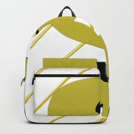 Cash $ Dollar // Transparent Gold Stripes Background  Backpack