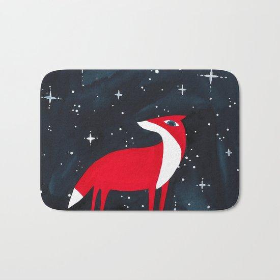Merry Christmas! - Fox and stars Bath Mat