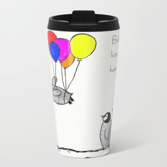 To be a Flying Penguin Metal Travel Mug