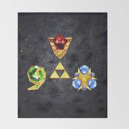 The Timeless Legend of Zelda Inspired Spiritual Stones Throw Blanket