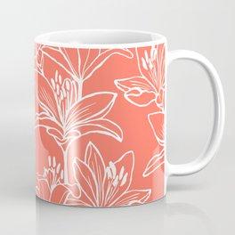 Lily Love in Coral Orange Coffee Mug