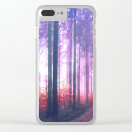 Woods in the outer space Clear iPhone Case