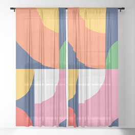 Abstract Geometric 17 Sheer Curtain